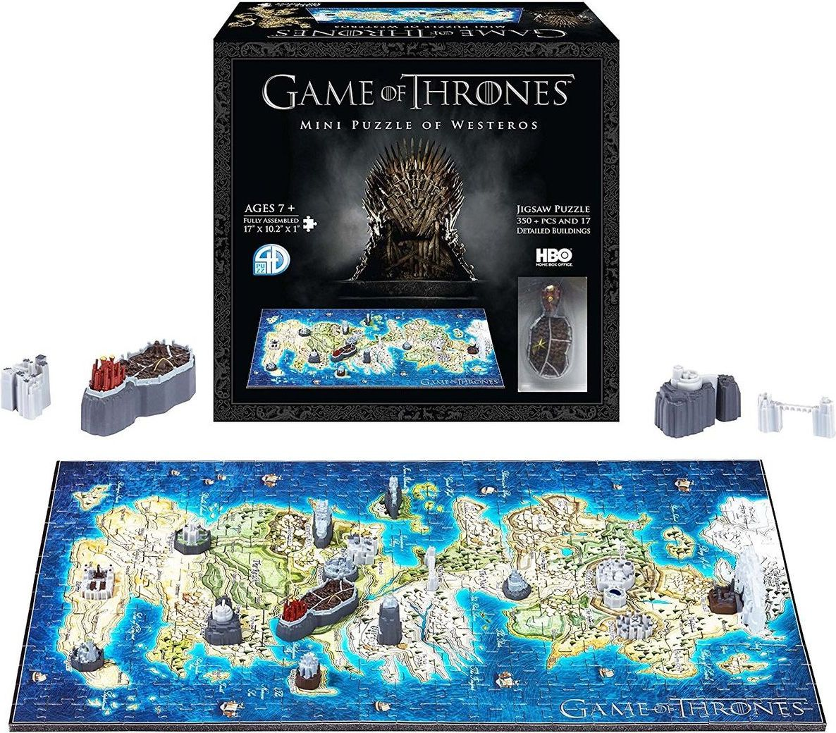 ADC Blackfire 4D Cityscape - Game Of Thrones / Mini Westeros 3D Puzzle - obrázek 1