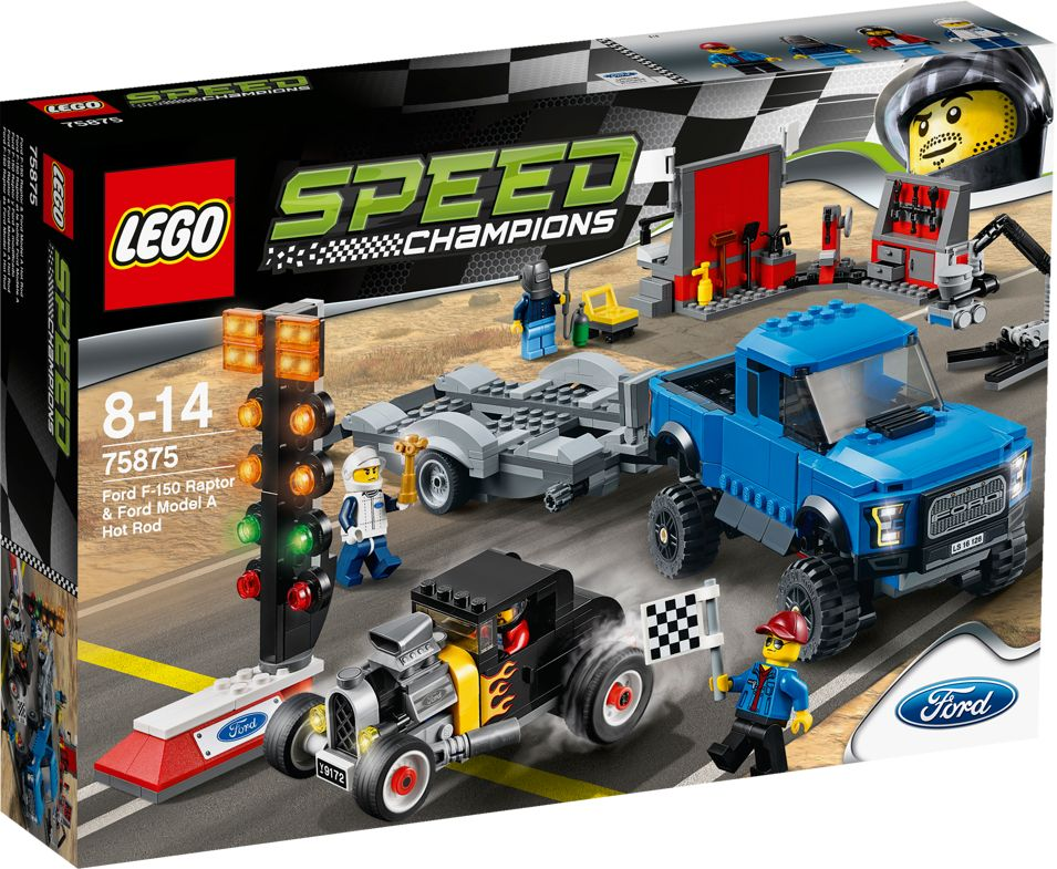 LEGO Speed Champions Ford F-150 Raptor a Ford Model A Hot Ro - obrázek 1