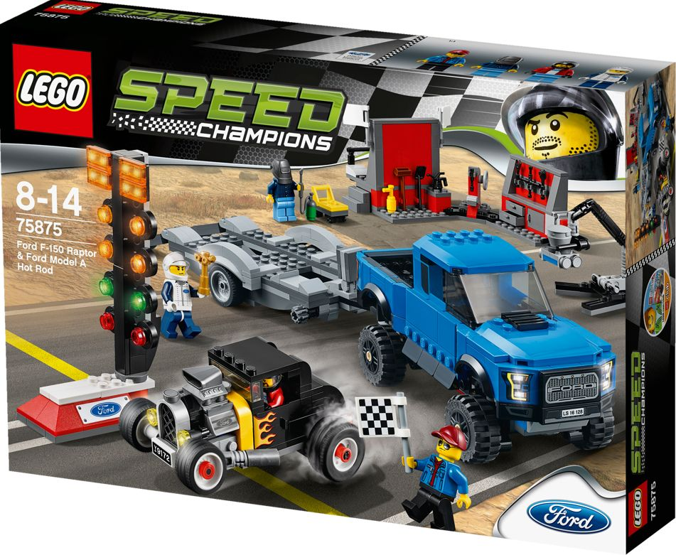 LEGO Speed Champions Ford F-150 Raptor a Ford Model A Hot Ro - obrázek 3