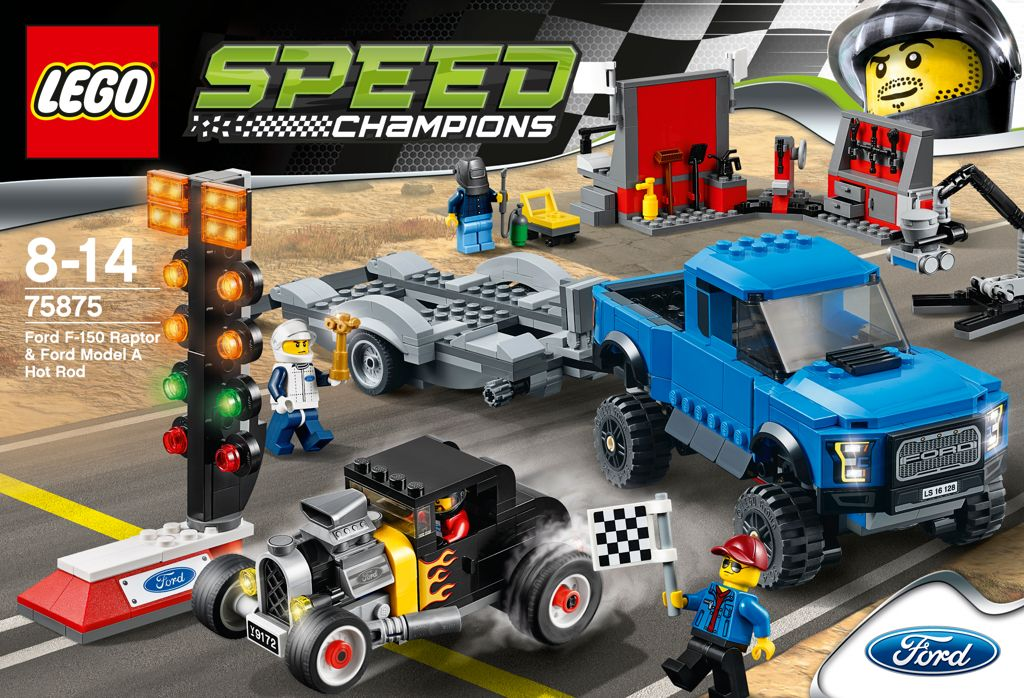 LEGO Speed Champions Ford F-150 Raptor a Ford Model A Hot Ro - obrázek 4